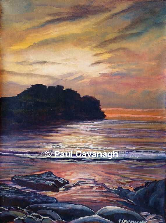 Painting of Rougey Rock, Bundoran, Co Donegal by Paul Cavanagh